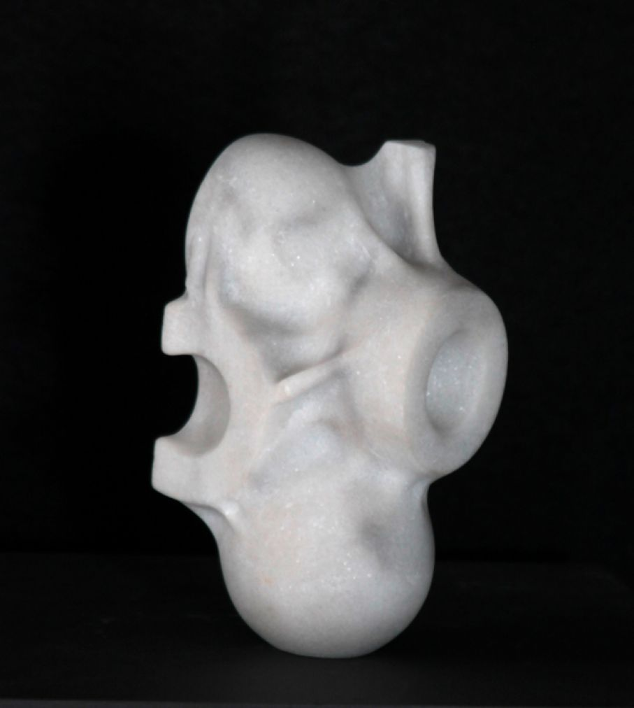 "Original marble sculpture of Kamen Tanev, completed on August 2013, within Myrό Antiques House premises, in Souroti, Thessaloniki, GREECE, as part of the Greek Marble Initiative, bearing the title ""Genesis"". Dimensions: 9 X 17 X 9 cm (without a base)."